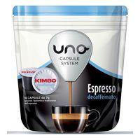 96 capsule caffè Kimbo per sistema UNO miscela Decaffeinato