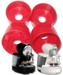 Picture of 10 Adattatori in plastica per utilizzare cialde monodose compatibili Lavazza Point sulla macchina bidose Lavazza ECL101