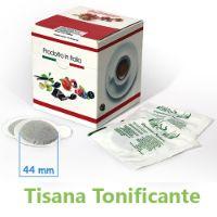 10 Cialde Tisana Tonificante in foglia formato 44mm ESE compatibili MOKONA