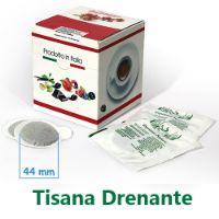 10 Cialde Tisana Drenante in foglia formato 44mm ESE compatibili MOKONA