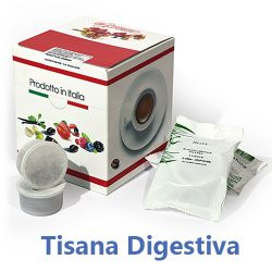 Picture of 10 Cialde Tisana Digestiva in foglia compatibili Lavazza POINT
