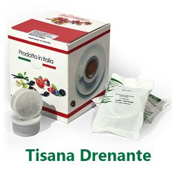 Picture of 10 Cialde Tisana Drenante in foglia compatibili Lavazza POINT