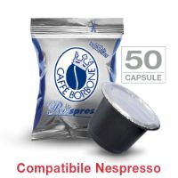 50 Cialde caffè Borbone Respresso miscela BLU compatibile Nespresso