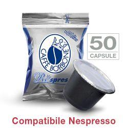 Picture of 50 Cialde caffè Borbone Respresso miscela BLU compatibile Nespresso