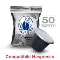 50 Cialde caffè Borbone Respresso miscela NERA compatibile Nespresso