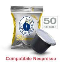 50 Cialde caffè Borbone Respresso miscela ORO compatibile Nespresso