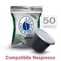 50 Cialde caffè Borbone Respresso miscela VERDE DECAFFEINATO compatibile Nespresso