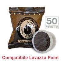 50 Cialde caffè Borbone miscela NERA Monodose compatibile Espresso Point