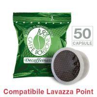 50 Cialde caffè Borbone miscela VERDE DECAFFEINATO Monodose compatibile Espresso Point