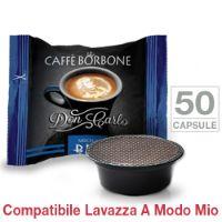 50 Capsule Don Carlo caffè Borbone miscela BLU compatibili Lavazza A Modo Mio