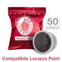 50 Cialde caffè Borbone miscela ROSSA Monodose compatibile Espresso Point