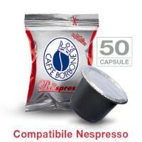 50 Cialde caffè Borbone Respresso miscela ROSSO compatibile Nespresso