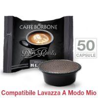 50 Capsule Don Carlo caffè Borbone miscela NERA compatibili Lavazza A Modo Mio