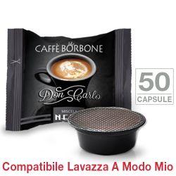 Picture of 50 Capsule Don Carlo caffè Borbone miscela NERA compatibili Lavazza A Modo Mio