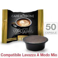 50 Capsule Don Carlo caffè Borbone miscela ORO compatibili Lavazza A Modo Mio