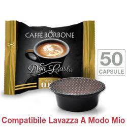 Picture of 50 Capsule Don Carlo caffè Borbone miscela ORO compatibili Lavazza A Modo Mio