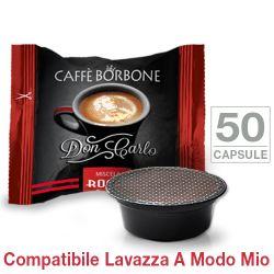 Picture of 50 Capsule Don Carlo caffè Borbone miscela ROSSA compatibili Lavazza A Modo Mio