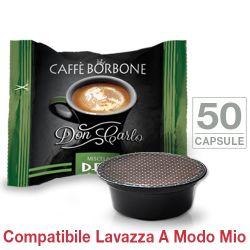 Picture of 50 Capsule Don Carlo caffè Borbone miscela VERDE Decaffeinatocompatibili Lavazza A Modo Mio