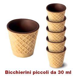 Picture of 28 astucci da 5 bicchierini di wafer al cioccolato da 30 ml