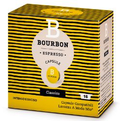 Picture of 128 Capsule Bourbon CLASSICO compatibile A Modo Mio prodotto da Lavazza