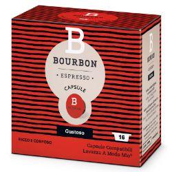 Picture of 128 Capsule Bourbon GUSTOSO compatibile A Modo Mio prodotto da Lavazza