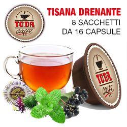 Picture of 128 Capsule TISANA DRENANTE Toda il Mio Gattopardo compatibili A Modo Mio