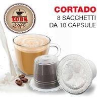 80 capsule Cortado Gattopardo compatibile Nespresso Toda