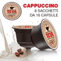 128 Capsule Buon CAPPUCCINO Toda Caffè compatibili Dolce Gusto