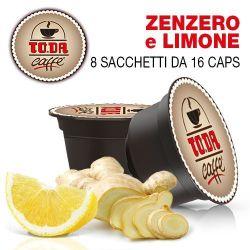 Picture of 128 Capsule bevanda allo ZENZERO e LIMONE Toda Caffè Buon Gattopardo compatibili Dolce Gusto
