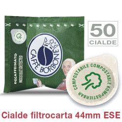 Picture of 50 Cialde filtrocarta 44mm ESE Caffè Borbone miscela VERDE DECAFFEINATO