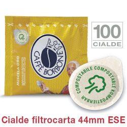 Picture of 100 Cialde filtrocarta 44mm ESE Caffè Borbone miscela ORO