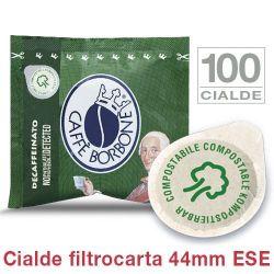 Picture of 100 Cialde filtrocarta 44mm ESE Caffè Borbone miscela VERDE DECAFFEINATO
