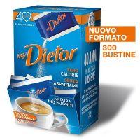 Dietor, nuovo formato da 300 bustine di dolcificante ipocalorico