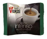 100 Capsule caffè Verzì miscela Intenso Monodose compatibile Uno System