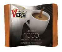 100 Capsule caffè Verzì miscela Ricco Monodose compatibile Nespresso