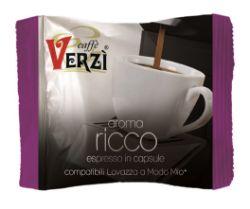Picture of 100 Capsule caffè Verzì miscela Ricco Monodose compatibile Lavazza A Modo Mio
