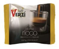100 Capsule caffè Verzì miscela Ricco Monodose compatibile Bialetti