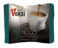 80 Capsule caffè Verzì miscela Ricco Monodose compatibile Caffitaly