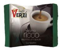 100 Capsule caffè Verzì miscela Ricco Monodose compatibile Uno System