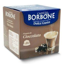 Picture of 16 Capsule Borbone Compatibili macchine Nescafè Dolce Gusto solubile AL GUSTO DI CIOCCOLATO