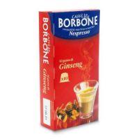 10 Capsule Borbone Compatibili macchine domestiche Nespresso CAFFE' AL GUSTO DI GINSENG