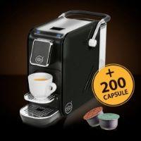 Macchina da caffè Alex Black Plus per sistema Aroma Vero + 200 capsule