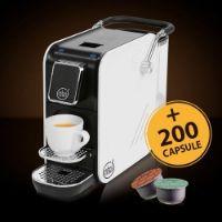 Macchina da caffè Alex White Plus per sistema Aroma Vero + 200 capsule