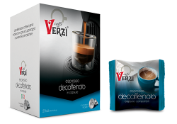 Picture of 100 Capsule caffè Verzì miscela Decaffeinato Monodose compatibile Bialetti