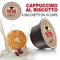 128 Capsule Buon CAPPUCCINO AL BISCOTTO Toda Caffè compatibili Dolce Gusto