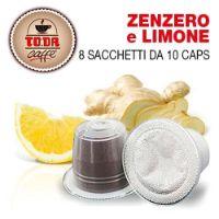 80 capsule Zenzero e Limone Gattopardo compatibile Nespresso Toda