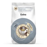 80 capsule (8 sacchetti da 10 caps) caffè  EXTRA compatibile Lavazza Point