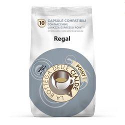 Picture of 80 capsule (8 sacchetti da 10 caps) caffè  REGAL ARABICA compatibile Lavazza Point