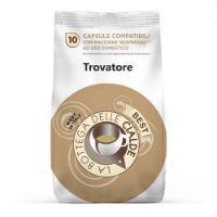 80 capsule (8 sacchetti da 10 caps) Caffè Best Trovatore compatibile Nespresso