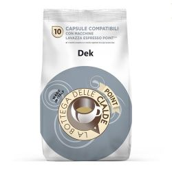 Picture of 80 capsule (8 sacchetti da 10 caps) caffè DECAFFEINATO compatibile lavazza Point